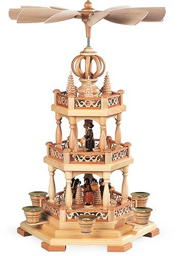 Kerst Piramide Woud Motief Twee Etages