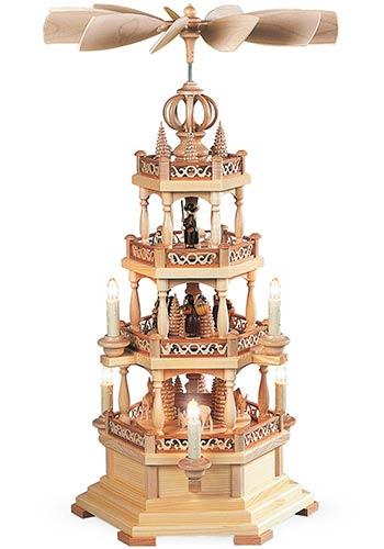 Piramide Woud Motief Drie Etages Elektrisch