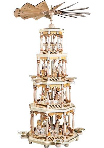 Grote Kerst Piramide Kerstverhaal 4 Etages