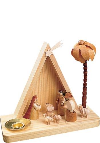 Kaarsenhouder Kerststalletje