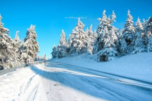 Sneeuw op de Fichtelberg