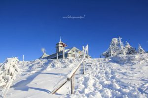 Fichtelberghuis met Sneeuw