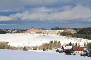 Winter Landschap Ertsgebergte